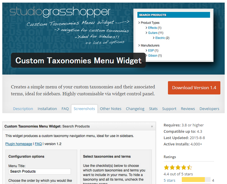 CustomTaxonomiesMenuWidget1